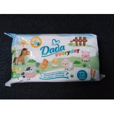 Детские влажные салфетки Dada Everyday 72 шт