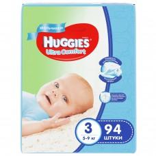 Huggies Ultra Comfort 3 (5-9кг) для мальчиков 94 шт.