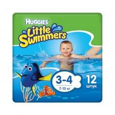 Подгузники для плавания Huggies Little Swimmers Small 3-4 (7-15 кг) 12 шт