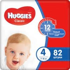 Подгузники Huggies Classic 4 (7-18кг) 82 шт.