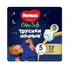 Подгузники-трусики Huggies Elite Soft Overnites 5 (12-17 кг) 17шт