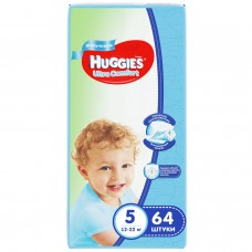 Huggies Ultra Comfort 5 (12-22кг) для мальчиков 64 шт.