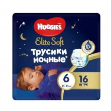Подгузники-трусики Huggies Elite Soft Overnites 6 (15-25кг) 16шт