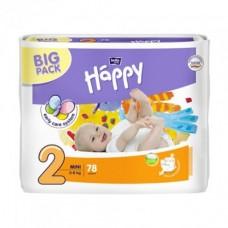 Подгузники Bella Happy 2 Mini (3-6кг) 78 шт.
