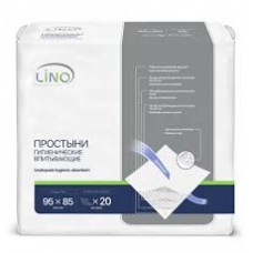 Простыни впитывающие одноразовые Lino 95x85см 20шт