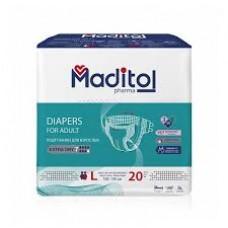 MADITOL Pharma Подгузники для взрослых (100-150см 7 капель) 20 шт