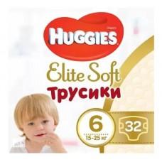 Подгузники-трусики Huggies Elite Soft Mega 6 (15-25кг) 32шт