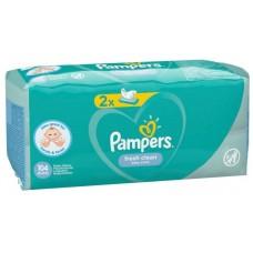 Детские влажные салфетки Pampers Fresh Clean 2*52шт.