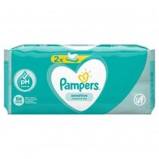 Детские влажные салфетки Pampers Sensetive  2*52шт.