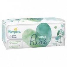 Детские влажные салфетки Pampers Aqua Pure 2*48 шт.
