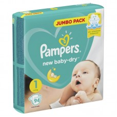 PAMPERS Подгузники New Baby-Dry 1 Newborn (2-5 кг) 94 шт.