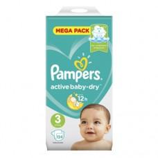 Подгузники Pampers Active Baby-Dry 3 Midi (6-10 кг) 124 шт.