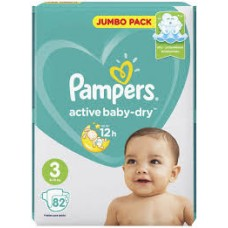 Подгузники Pampers Active Baby-Dry 3 Midi (6-10 кг) 82 шт.