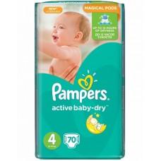PAMPERS Подгузники Active Baby-Dry 4 Maxi (9-14 кг) 70 шт.