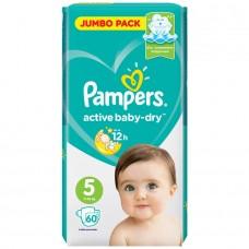 PAMPERS Подгузники Active Baby-Dry 5 Junior (11-16 кг) 60 шт.