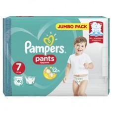 Подгузники-трусики Pampers Pants 7 (17+ кг) 40 шт.