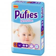 Подгузники Pufies Sensitive Extra Large 6 (13+ кг) 66 шт.