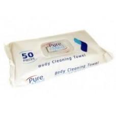 Pure Med Влажные салфетки для тела 50шт