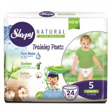 Подгузники-трусики Sleepy Natural 5 Junior (11-18 кг) 24 шт