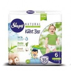 Подгузники-трусики Sleepy Natural 6 Extra Large (15-25 кг) 20 шт
